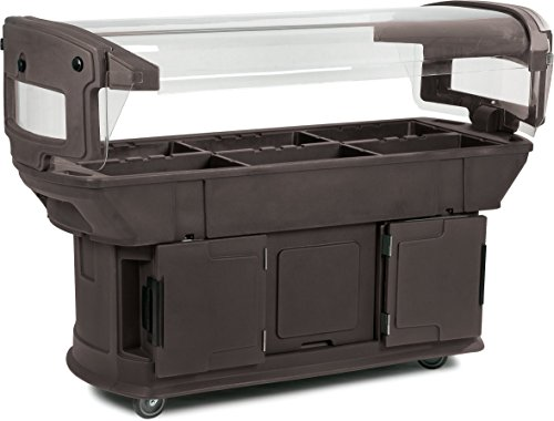 Carlisle 771101 Maximizer Portable Food Buffet and Salad Bar, 6 Foot, Brown