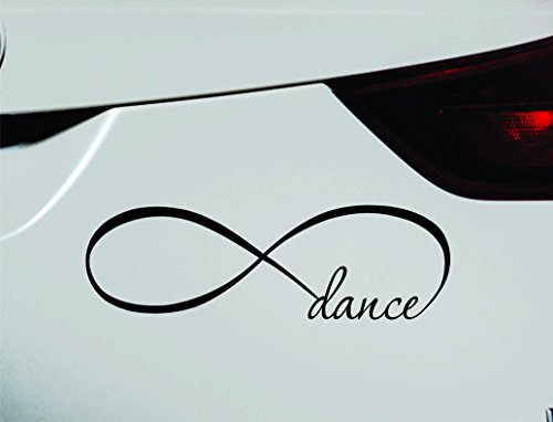 Infinity Dance Symbol Decal Funny Car Truck Sticker Window (Black)