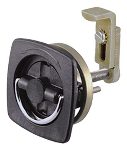 Perko 0932DP2BLK Black Marine Hatch Latch without Lock (Perko Door Latch)