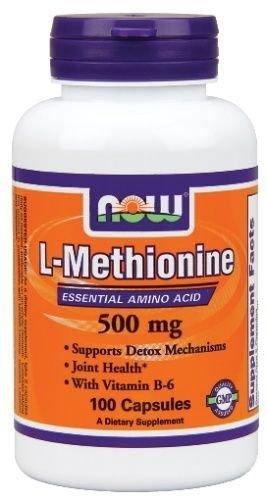 MAINTENANT les aliments L-méthionine 500 mg - 100 capsules