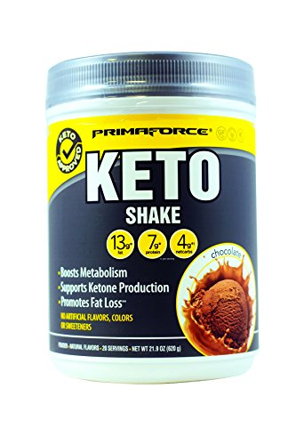 Enhance Weight Loss - PrimaForce KetoShake – Keto MCT Meal Replacement – Curbs Appetite / SupportsWeight Loss / Enhances Ketosis – Chocolate, 20 Servings