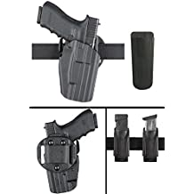 "Safariland 576 ROCK ISLAND ARMORY 1911 HIGH HI-RIDE 1.5"" Belt Loop GLS Multi Pro-Fit Right Hand Black Holster with Ultimate Arms Gear Magazine Belt Pouch"