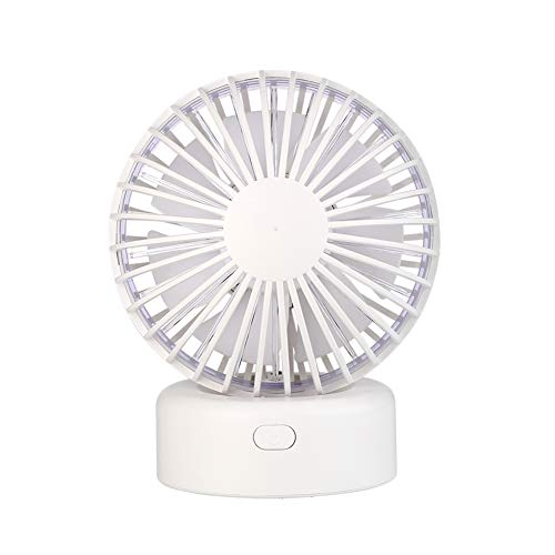 Mini USB Fan Maserfaliw 5V Mini Portable Quiet USB Desk Fan Office Electric Oscillating Table Air Cooler - White, Home Life, Office, Holiday Gifts.