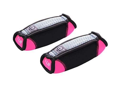 Gymenist Joging Dumbbells with Strap for hand (1 LB - Pink)