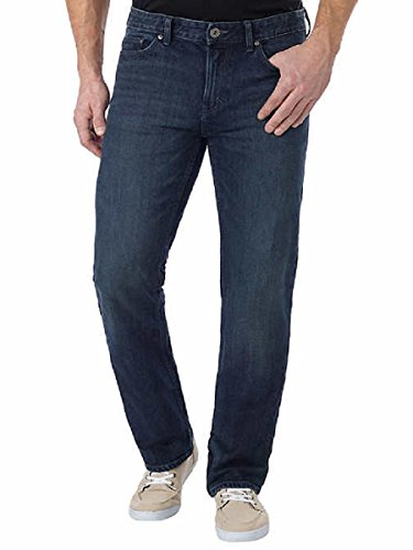 Cotton Pique Jeans - Calvin Klein Men's Straight Leg Jean (OS Blue, 32W x 30L)