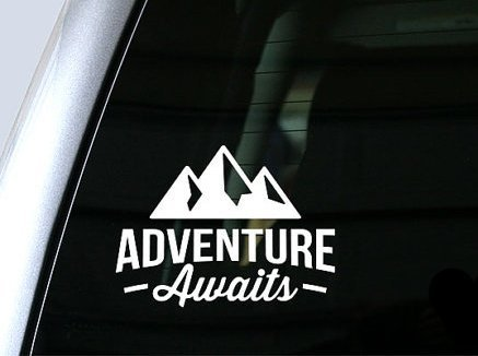 - Adventure Awaits Wanderlust Decal Vinyl Sticker|Cars Trucks Vans Walls Laptop| White |5.5 x 4 in|CCI1088