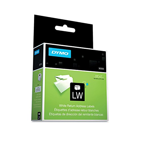 DYMO 30330 LabelWriter Return Address Labels, 3/4 x 2, White, 500 Labels/Roll (Labelwriter Return Address Labels)