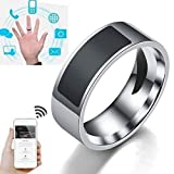 Uchada 2019 Smart Finger Digital Ring Wear Connect for Android Phone Equipment Rings Fashion (8, Transparent)