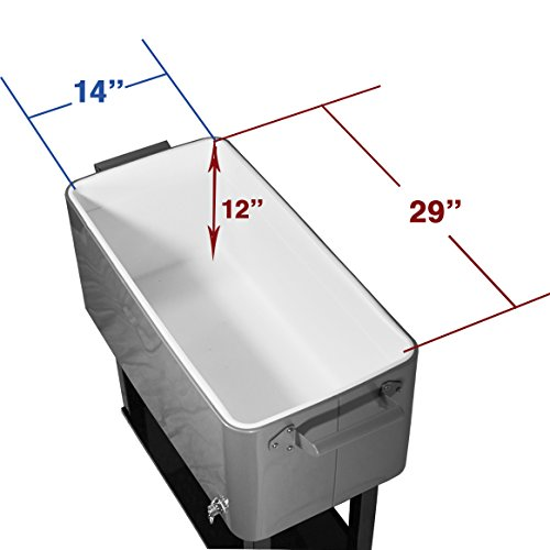 New clevr outdoor 80quart party portable rolling cooler ice chest business industrial food