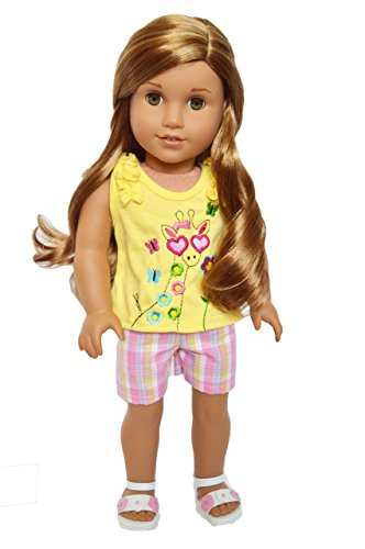 Brittany's Giraffe Outfit Fits 18 Inch Dolls Compatible with American Girl Dolls- 18 Inch Doll Clothes ()