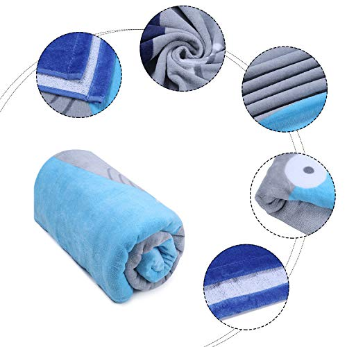 Wowelife Baby Bath Towels for Bath, Pool and Beach 100% Cotton 30 x 63 inch Extended Length for Both Children and Adults(Happy Jaw) by Wowelife (Image #6)