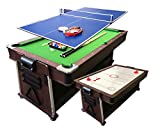 simba usa 4 in 1-7Ft Green Pool Table + Air Hockey + Tennis Table Tennis + Dinner Table