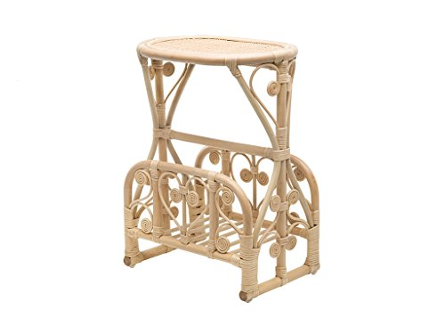 Kouboo Peacock Rattan Magazine Rack and Stand, Natural Color ()