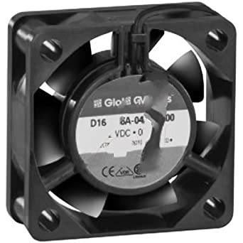 Fan; DC; 12V; 41x41x15mm; Sq; 8CFM; 1.02W; 32dBA; 8000RPM; Leadwires Globe Motors D16-B06A-04W5-000