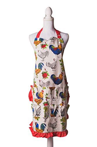 Fluffy Layers The Full Body Egg Collecting Apron - Holds 15 Eggs- Gather Eggs from Your Chicken Coop While Filling Your Waterer and Feeder with Eggs Kept Safe (Egg Pocket)