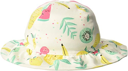 Gymboree Baby Girls Reversible Sun Hat, Sweet Mint Stripe, 6-12 Mo