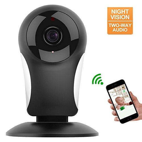 Home Security Camera System, M WAY HD 960P Wireless IP Camera Support 2.4GHz WiFi, Day/Night Vision, Indoor Cam for House, Baby, Pet Security Black