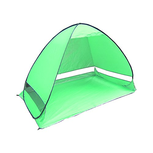 CHUKCHI Outdoor Automatic Pop up Instant Portable Cabana Beach Tent Camping Fishing Hiking Picnicing Anti UV Beach Tent Beach Shelter (Green)