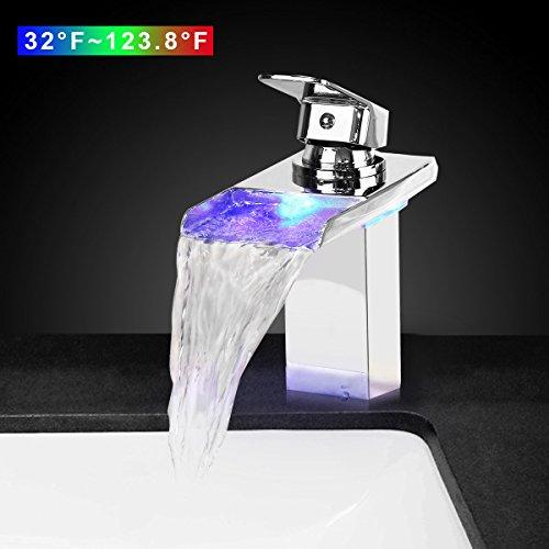 bathroom faucet led waterfall - 3