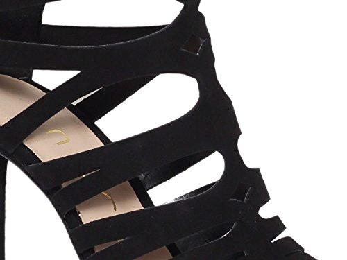 Primavera Kidsuede Donna WANDE UNISA Scarpe 2018 Black Sandalo Estate Uw6Yw1q4n