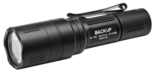 SureFire  EB1C-B-BK 200 Lumens Backup Series LED Flashlight with TIR Lens and Two-Way Clip (Light Backup Series)