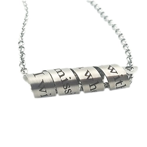 N.egret Hidden Messages Handmade Stainless Quote Scroll Necklace Secret Pendant Special Gift (I am with you)