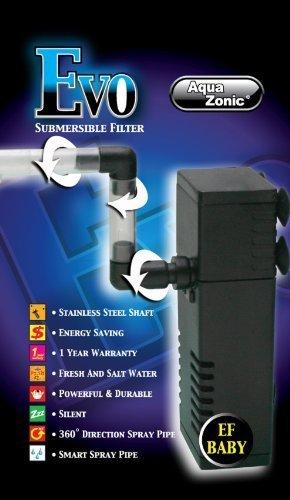 AQUA ZONIC EF-02 EVO 300L/H Tanque De Peces Acuario Filtro Interno Con Spraybar: Amazon.es: Productos para mascotas