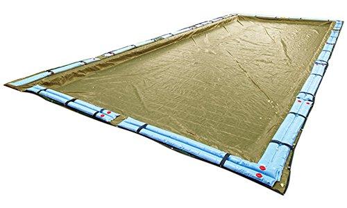 Buffalo Blizzard Winter Cover for a 18 ft. x 36 ft. Rectangular Pool (Supreme Plus Tan/Silver) Black 36' Rectangular Liner