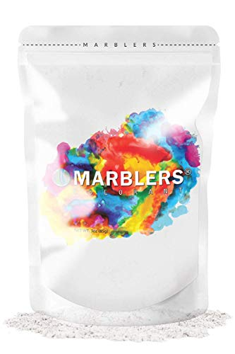 MARBLERS Mica Powder Colorant 3oz (85g) [Cream White] | Pearlescent Pigment | Tint | Pure Mica Powder for Resin | Dye | Non-Toxic | Great for Epoxy, Soap, Nail Polish, Cosmetics and Bath Bombs