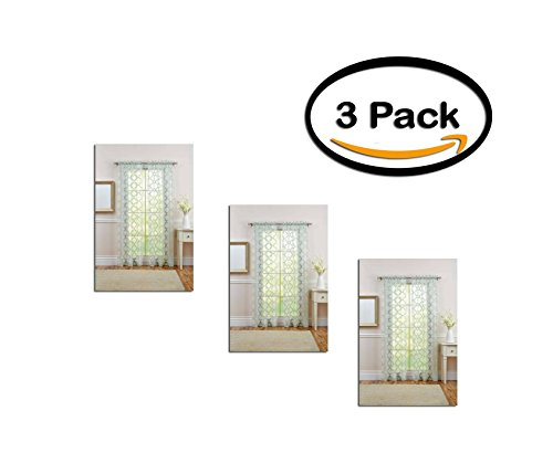 PACK OF 3 - Better Homes and Gardens Sheer Trellis Curtain P