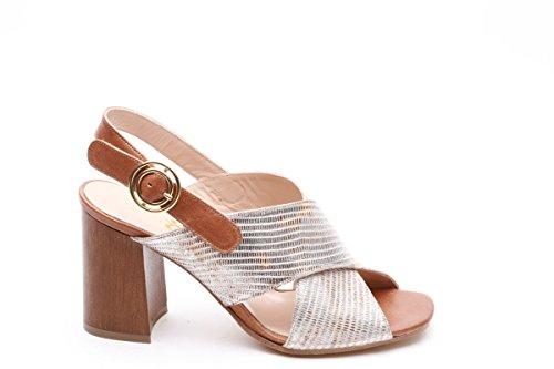 Scarpe italiane sandali con fasce multicolor