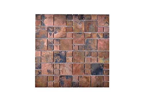 Legion Furniture MS-COPPER23 Mosaic With Mix Wall Tile, (Copper Mosaic Flooring)