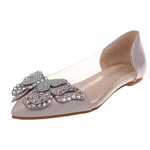 hunpta bequeme sommer ballerinas flache mode grau schuhe sandalen niet sandalen frauen xxwn4