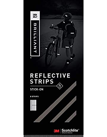 Brilliant Reflective Stick-on Reflector Tape for Biking: Adhesive Stick-on Strips for