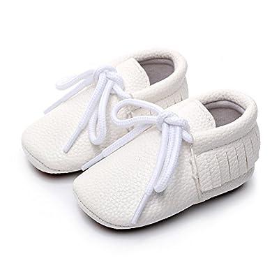 Diamondo Baby Prewalker Shoes Pure Color PU Hard Bottom Lace-up Pediatric Shoes: Baby