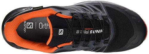 Salomon Wings Pro 2 GTX, Scarpe da Escursionismo Uomo Multicolore (Black/Dark Cloud/Rd)