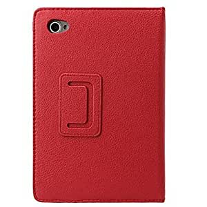 DUR Lychee Pattern PU Case for Samsung P6800/P6810 , Pink