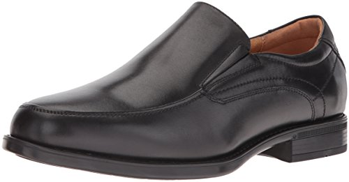 Florsheim Men's Medfield Moc Toe Slip-On Loafer Dress Shoe, Black, 11.5 D US