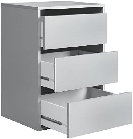 Newface - Bloque de cajón con 3 cajones, Madera, Gris, 98,7 x 39,60 x 70,60 cm, Talla única: Amazon.es: Hogar