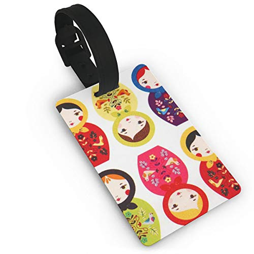 Russian Matryoshka Nesting Dolls Bright Luggage Tags Business Card Holder, Suitcase Labels,Travel Accessories