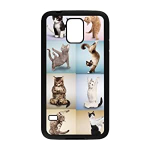 Yoga Cats The Unique Printing Art Custom Phone Case for SamSung Galaxy S5 I9600,diy cover case ygtg571972