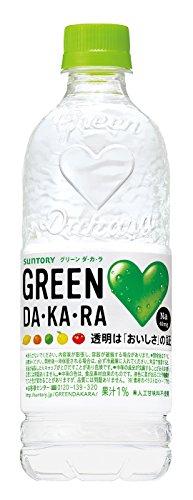 X24 This Suntory GREEN DA ? KA ? RA 550ml pet by DAKARA (Dakara)