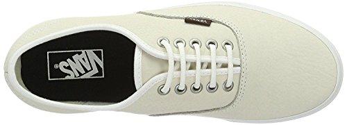 Vans Authentic Blancos Del Patín Del Cuero Zapatos