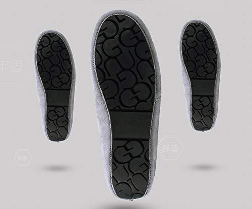 Cuir Gris Loisirs Plats Homme Conduite Icegrey De Chaussures Moccassins avwHFF
