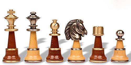 Italfama Large Persian Staunton Chess Set in Metal & -