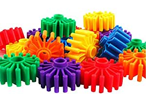 100 pieces of bagged gears stitching building blocks educational toys