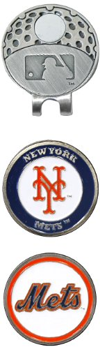 Team Golf MLB New York Mets Golf Cap Clip with 2 Removable Double-Sided Enamel Magnetic Ball Markers, Attaches Easily to Hats (Ball York Mets New)