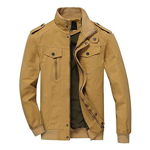 XOWRTE Men's Slim Zipper Winter Warm Long Trench Jacket Overcoat Outwear Coat]()