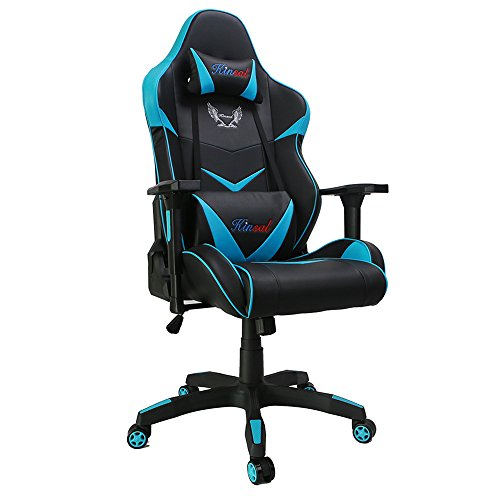 41S96Iclg0L - Kinsal-Large-Size-Big-and-Tall-Computer-Chair-Gaming-Chair-High-back-Ergonomic-Racing-Chair-Leather-Swivel-Office-Executive-Chair-Blue