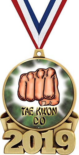 Medal Arts Martial Gold - Taekwondo Medals, 3